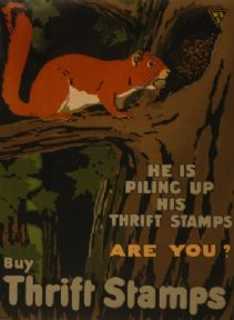 "Vintage WW1 Poster ""Buy Thrift Stamps"""